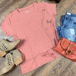 New Madewell tee with drawstring